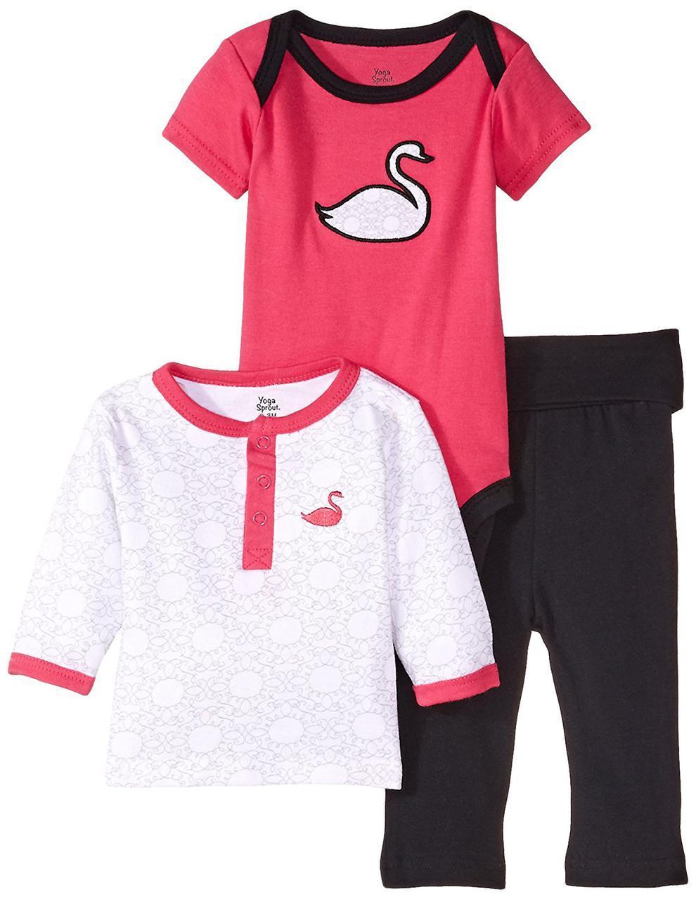 """Комплект для девочки 1,5 года """"Лебедь"""" Yoga Sprout (США)"""