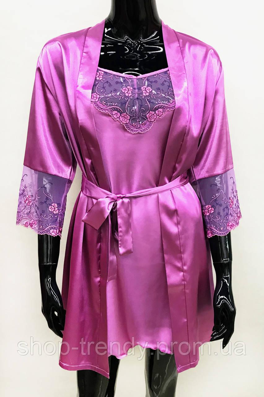 Женский халат и ночная рубашка Натали