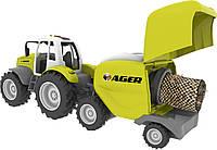 Игрушка Toy State Моторизированная сельская техника Трактор с пресс-подборщиком 44 см (21712)