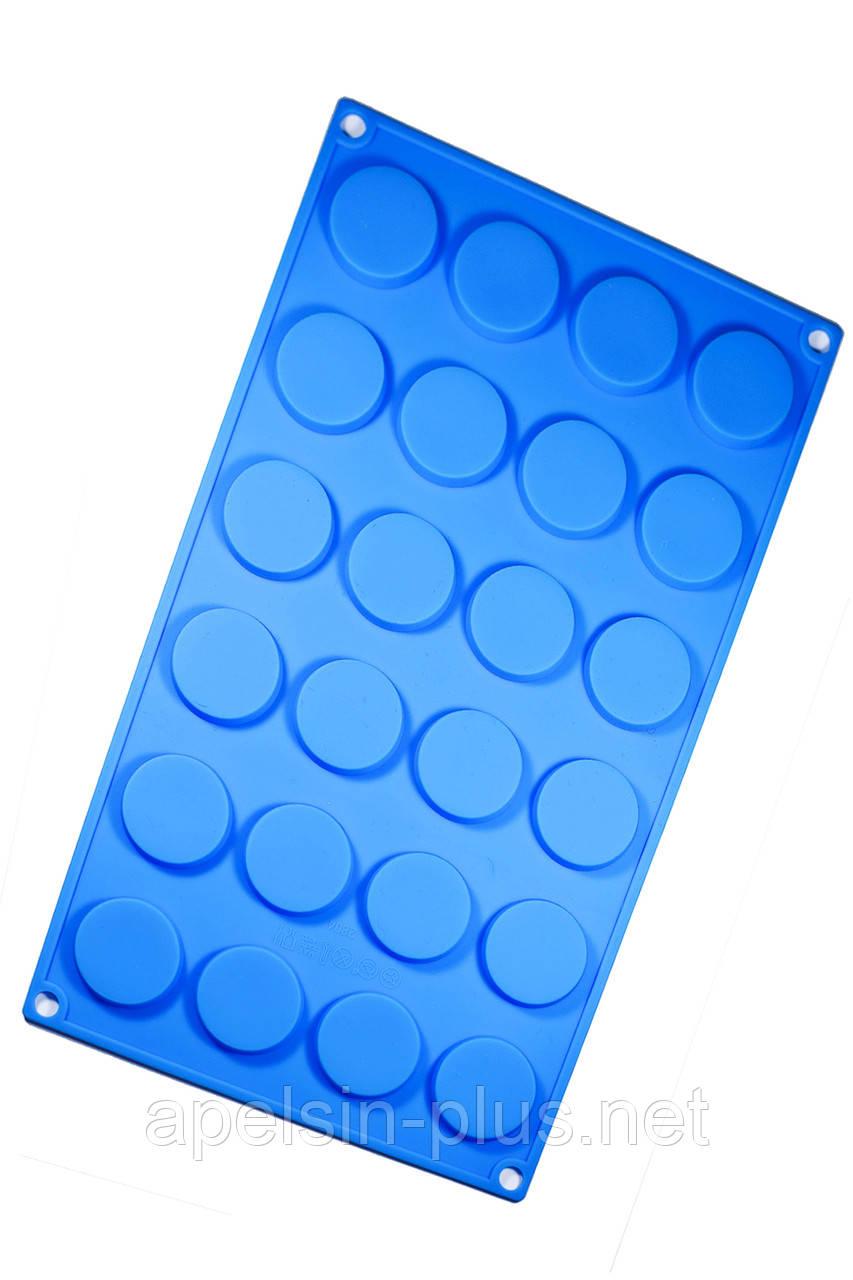 """Силиконовая форма для шоколада и выпечки """"Медальоны"""" на 24 ячейки"""