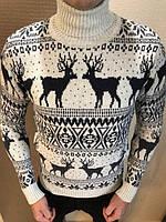 Чоловічий стильний в'язаний  светер- гольф  (різні кольори)