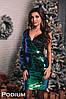 Женское эффектное платье на одно плечо (4 расветки)