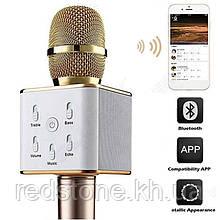 Мікрофон караоке bluetooth Q7 Бездротовий Q7 MS USB Динамік+Колонка(колір золото і червоне золото)