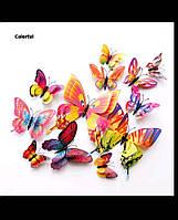 Декор для квартиры 3D бабочки Разноцветные (0098376)