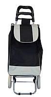 Дорожная сумка на колесах, Черного цвета, хозяйственная сумка на колесах Двухцветная, фото 1
