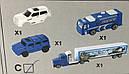 Набор Авто-трек полиция с машинками 29 элементов, 180 см, фото 5