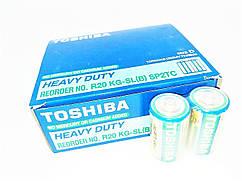 Батарейки солевые Toshiba D большие, R 20, упаковка —  20 шт