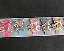 Заколки для волос с Мишки текстиль с напылением 10 шт/уп., фото 3
