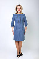 Нарядное однотонное женское платье , фото 1