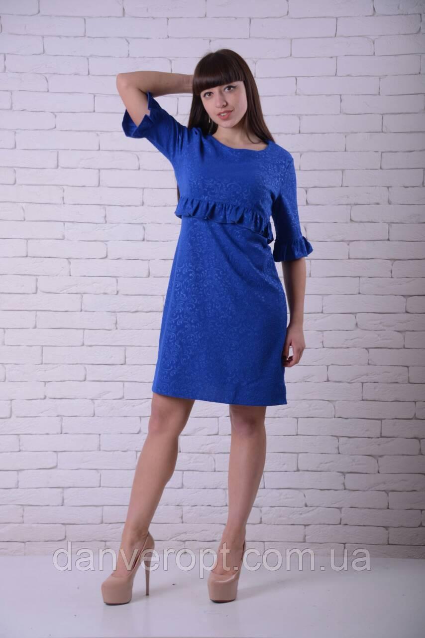 Платье женское модное стильное с оборками размер 42-52, купить оптом со склада 7км Одесса