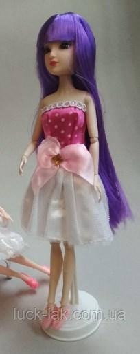 Сукня з рожевим бантом + туфлі в подарунок для ляльки Барбі