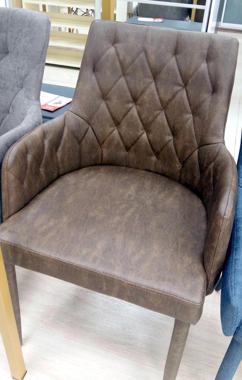 Мягкое кресло в стиле модерн  Belfest (Белфаст) MC02-2 Vintage Brown Евродом (коричневый)