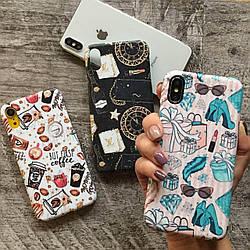 Дизайнерский пластиковый чехол предметы, кофейный дизайн для iPhone X/ XS /Xr /XS Max