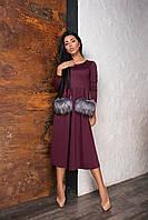Платье женское с мехом в расцветках 27878, фото 1