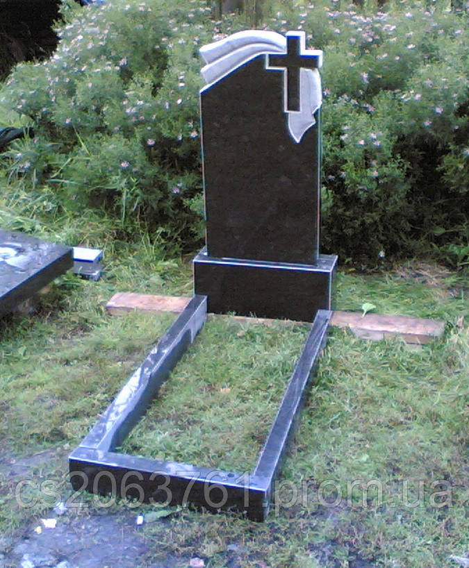 Памятник гранитный с крестом - STONE AGE в Житомирской области