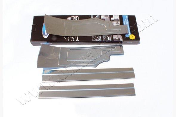 Накладки на внутренние пороги (4 шт, нерж) - Ford Connect 2014+ гг.
