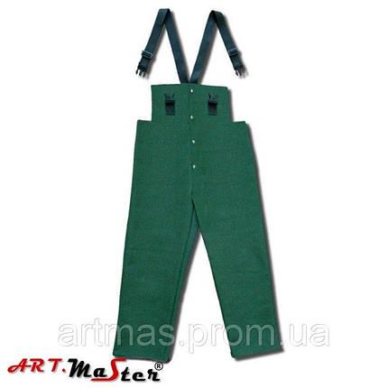 Брюки брезентовые рабочие ARTMAS зелоного цвета SPBr, фото 2