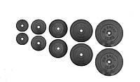 Набор дисков 67 кг (2х1.25, 2х2.5, 2x5, 2х10 и 2x15) дисков, покрытых пластиком (31 мм)