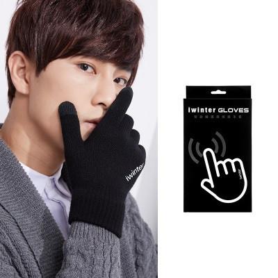 Перчатки мужские сенсорные антискользящие iWinter black