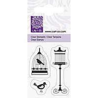 Штамп Knorr Prandell Клітка і птиці розмір: 5x6 см акрил 4011643793507