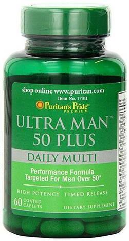 Puritan's Pride Витамины и Минералы Ultra Man 50 Plus 60 caplets
