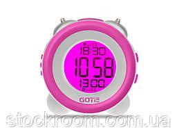 Электронный будильник фиолетовый GOTIE GBE-200F