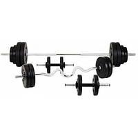 Силовой набор на 80 кг 4 грифа + блины. Диски с ABS