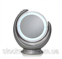Двустороннее Косметическое зеркало GOTIE GMR-319S c LED подсветкой (серое)