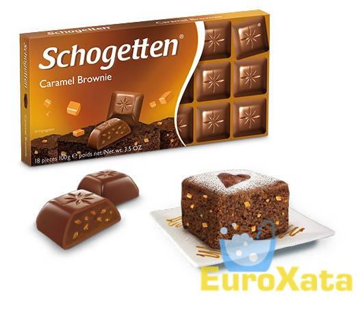Шоколад Schogetten Caramel Brownie карамель, брауни 100 гр