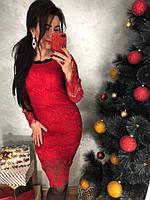 Женское модное кружевное платье  (2 цвета), фото 1