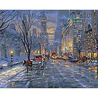 """Картины по номерам без коробки - Городской пейзаж """"Краски ночного города"""" 50*40см"""