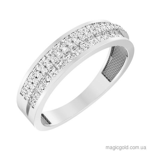Золотое кольцо с фианитами Снежана