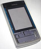 Корпус Nokia X3-00 полный серебро/синий High Copy