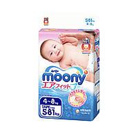 Подгузники Moony S 4-8 кг 81 шт (4903111243822)