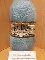 Зимняя пряжа (20% шерсть, 80% акрил; 100г/550м) Alize Angora Gold 114 (голубая вода)