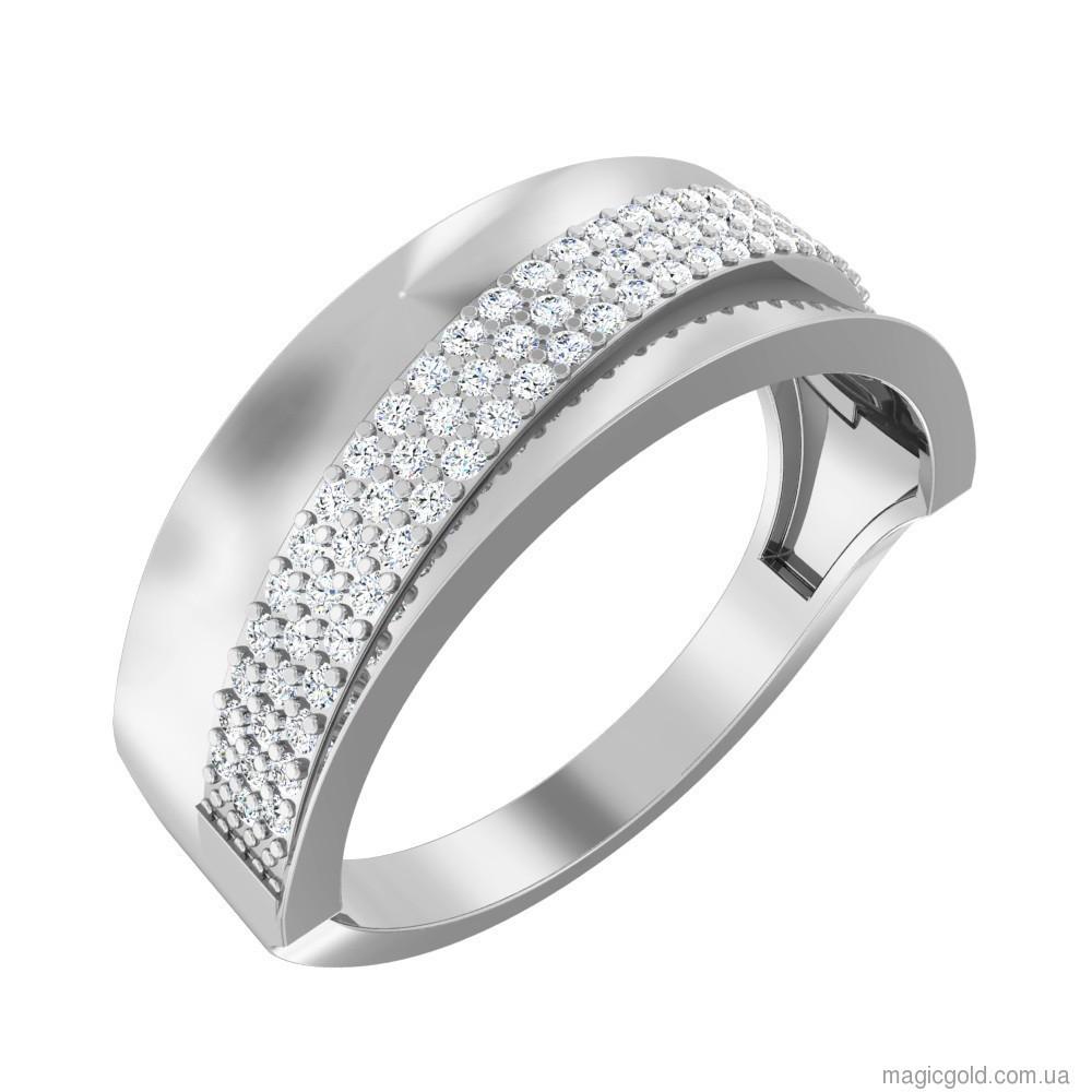 Золотое кольцо из белого золота Сияние и блеск, цена 5 013 грн., купить в  Мариуполе — Prom.ua (ID#839385957)