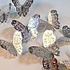 Бабочки для декора 3D серебристые  (034629)