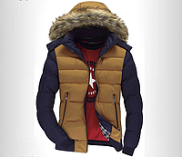 Молодёжная мужская  демисезонная куртка с капюшоном и мехом р.XL(46)З АМЕРЫ В ОПИСАНИИ!