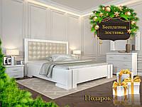 Кровать деревянная Амбер без подъёмного механизма из натурального дерева полуторная, фото 1