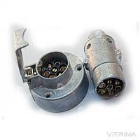 Вилка + розетка фаркопа для прицепа ПС-300, МТЗ | (12-24V) (OLAN)