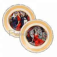 Набор декоративных тарелок «Леди в красном» 2 шт. Gloria, d-25 см (264-2501B)