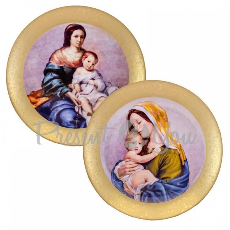 Набор декоративных тарелок «Мадонна» 2 шт., Gloria,d-32 cм (264-3202B)