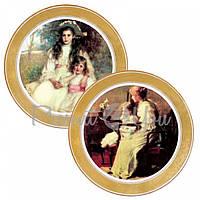 Набор декоративных тарелок «Викторианская мечта» Gloria, 2 шт.,d-32 см (264-3205B)