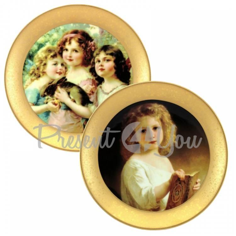 Набор декоративных тарелок «Викторианская мечта» Gloria, 2 шт.,d-32 см (264-3206A)