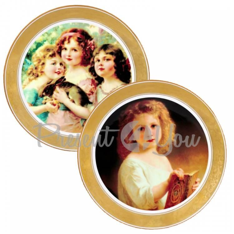Набор декоративных тарелок «Викторианская мечта» Gloria, 2 шт.,d-32 см (264-3205A)