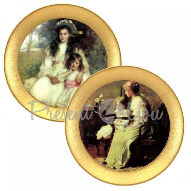 Набор декоративных тарелок «Викторианская мечта» Gloria, 2 шт.,d-32 см (264-3206B)