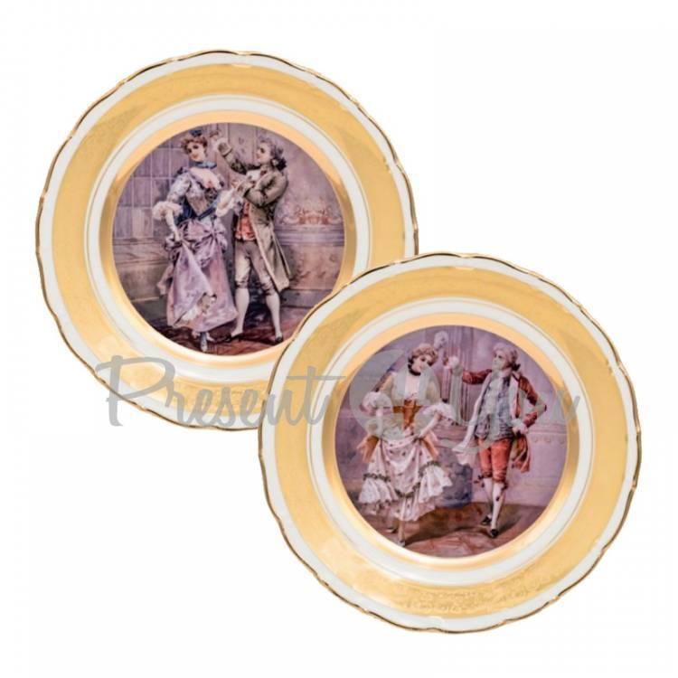 Набор декоративных тарелок «Галантный мир» Gloria, 2 шт., d-25 см (264-2512B)