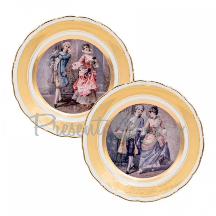 Набор декоративных тарелок «Галантный мир» Gloria, 2 шт., d-25 см (264-2512A)