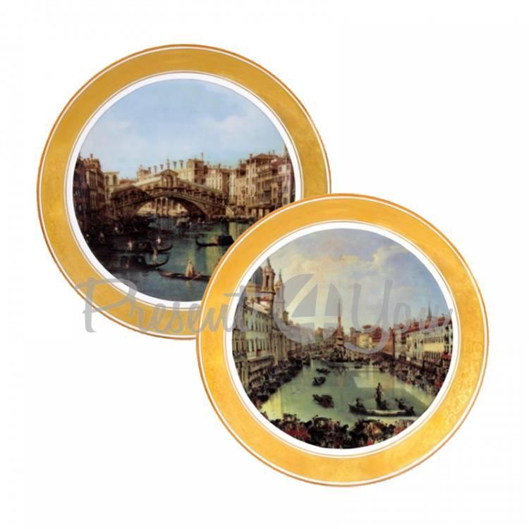 Набор декоративных тарелок «Венеция», 2 шт Gloria, d-25 см (264-2503A)