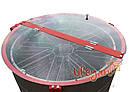 8-мі рамковий Медогонка з поворотом касет під рамку «Рута», неіржавіюча (ротор Н / Ж, з кришкою) — РЕМІННА, фото 2